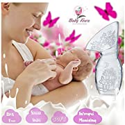 foska Manual Breastmilk Pump Comfortable Breastmilk Suction, Portable Silicone Breast Pump, Easy to Use, Perfect for Travel Lid Included