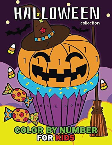 Halloween Collection Color by Number: Easy and Fun Activity Book for Kids -