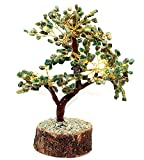 cosmic energy stones - Creativegifts Feng Shui Natural Multicolor Healing Gemstone Crystal Bonsai Fortune Tree for Good Luck, Wealth & Prosperity-Home Office Table Decor (green Jade)