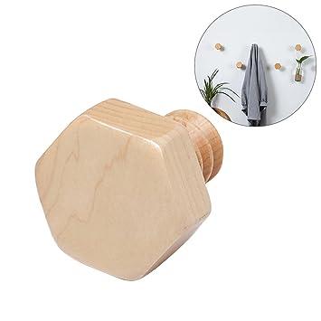 OUNONA Perchero decorativo de madera maciza para colgar en ...