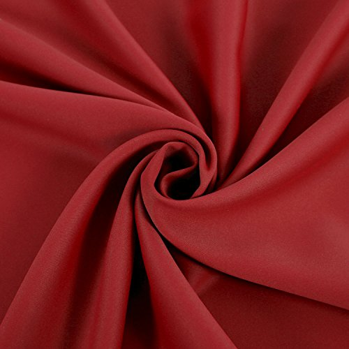 Deconovo Red Blackout Curtains Rod Pocket Drapes Window Curtains for Bedroom True Red 42W x 45L Inch Set of 2