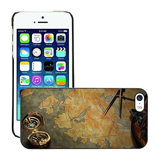 Hülle Case Schutzhülle Cover Premium Case // V00002390 Schatzkarte // Apple iPhone 5 5S 5G
