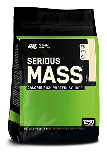 Optimum Nutrition Serious Mass Gainer Protein Powder  Vanilla  12 Pound