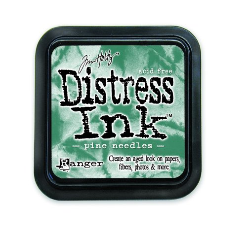 Ranger Tim Holtz Distress Ink Pad, Pine Needle Pine Rubber Stamp