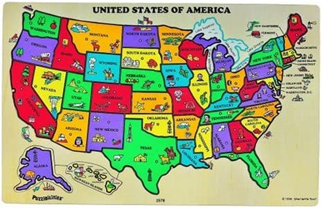 Amazon.com: Puzzibilities L4 United States of America Map: Toys & Games