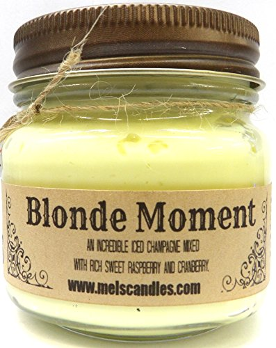 Mels Candles & More Blonde Moment Whipped Body Frosting 8 Ounce Country Glass Jar - This is (Whipped Body Frosting)