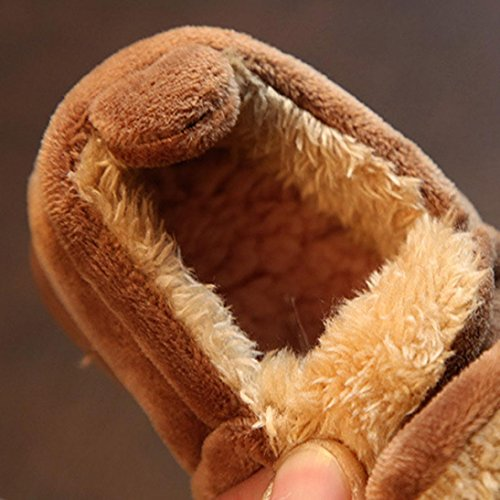 TPulling Mode Junge Und Mädchen Herbst Und Winter Weiche Sohle Rutschfest Kinder-Verdickung Cartoon Warme Baumwollschuhe Lässige Schuhe Braun