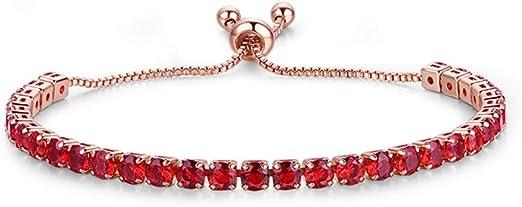 Mvude Womens Crystal Bracelet Cubic Zirconia Tennis Bracelet for Women Rhinestone Wedding Bridal Bracelet Gifts Jewelry,Black Rose Gold