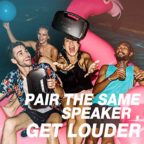 Portable Bluetooth Speaker, AOMAIS 40 Hrs Playtime Outdoor Waterproof Speakers with Lights, 25W Super Stereo Sound and… 5
