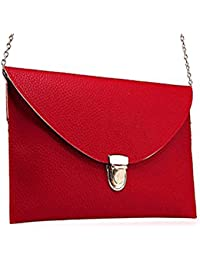 VIDA Leather Statement Clutch - Asian tales Leather Tote by VIDA