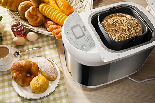 Great Features Of SKG 2LB Automatic Programmable Bread Machine Multifunctional Bread Maker (19 Progr...