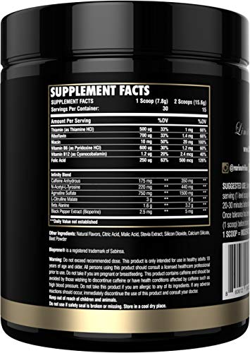 RARI Nutrition - Infinity - 100% Natural Pre Workout Powder for Energy, Focus, and Performance - Vegan and Keto Friendly - No Creatine - No Artificial Ingredients - 30 Servings (Sour Gummy Worm) by RARI Nutrition (Image #1)