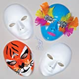 Baker Ross Decorate Your Own Face Mask (Pack Of 6) For Kids Arts and Crafts