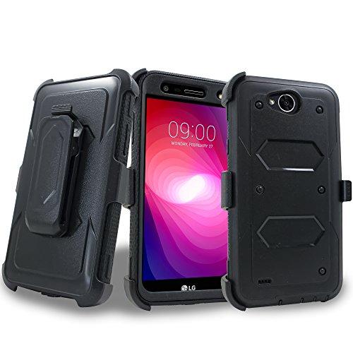 LG X Venture Case, LG X Calibur Case, LG V9 Case w/ Built-in [Screen Protector] Heavy Duty Full-Body Rugged Holster Armor Case [Belt Swivel - Australia Glasses Hard Case