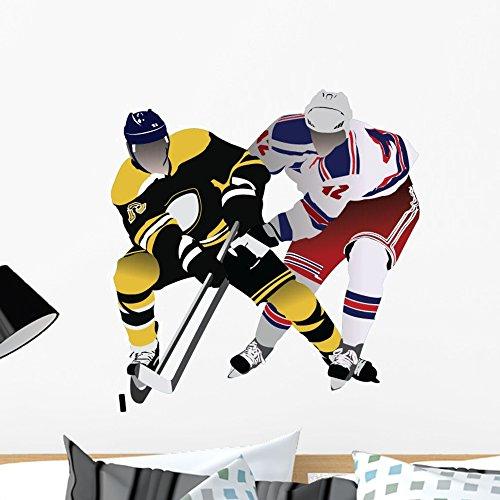 Wallmonkeys WM272985 Hockey-6 Peel and Stick Wall Decals (24 in W x 17 in H), Medium