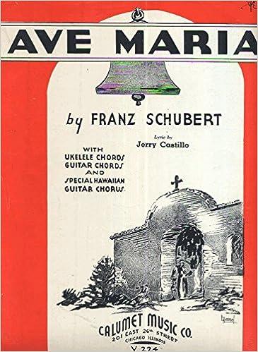 Amazon Ave Maria By Franz Schubert Sheet Music Lyric By Jerry
