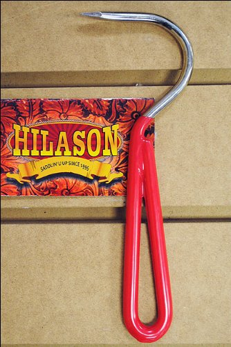 Red Hilason Horse Tack Zinc Plated Hoof Pick With Vinyl Coated Handle