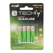 Techly AAA Super Alkaline Batteries, 4 Pack