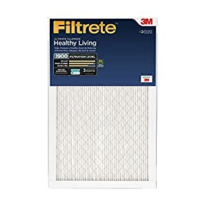 Filtrete Healthy Living Ultimate Allergen Reduction Filter, MPR 1900, 23.5-Inchx23.5-Inchx1-Inch, 6-Pack