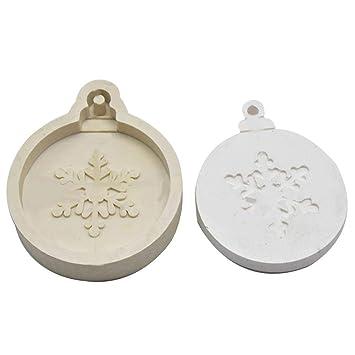 Pultus Molde de Silicona con Forma de Copo de Nieve, árbol de Navidad, Molde