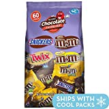 SNICKERS, M&M'S & TWIX Fun Size Candy Variety Mix, 60 Pieces