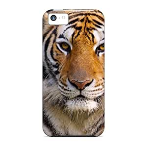 Fashion Tpu Case For Iphone 5c- Bengal Tiger 3 Defender Case Cover