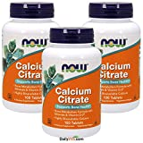NOW Calcium Citrate, 100 Tablets (Pack of 3) Review