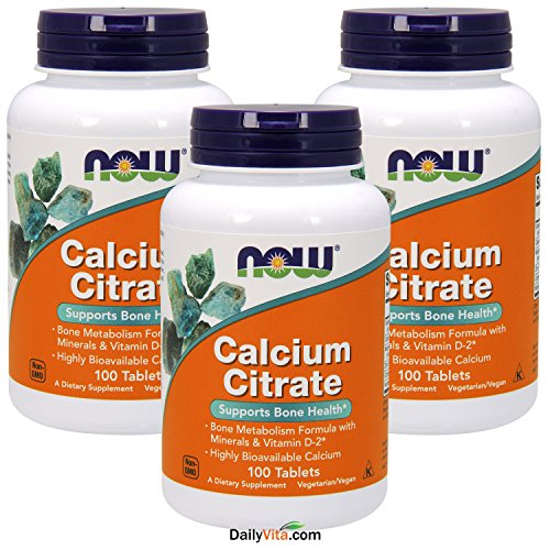 (NOW Calcium Citrate, 100 Tablets (Pack of)