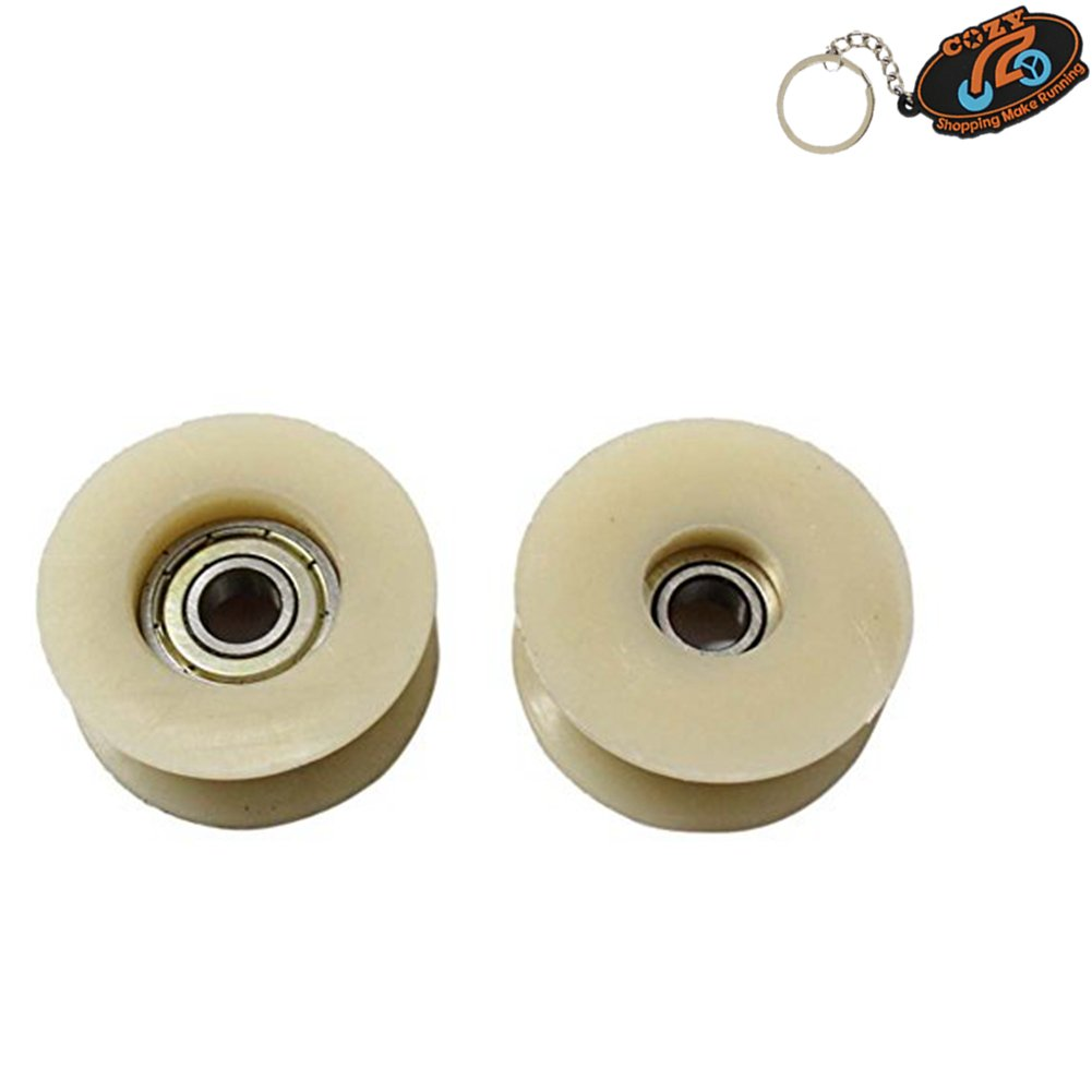 Cozy Pack of 2pcs 49cc 60cc 66cc 80cc Engine Motorized Bicycle Pulley Chain Tensioner Roller