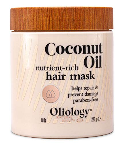 Oliology Coconut Oil Hair Mask - Helps Repair & Prevent Damage   Paraben Free