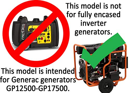 GenTent 20K Running Cover (Extreme, TanLight) for Generac GP12500 - GP17500 Generators by GenTent Safety Canopies (Image #5)
