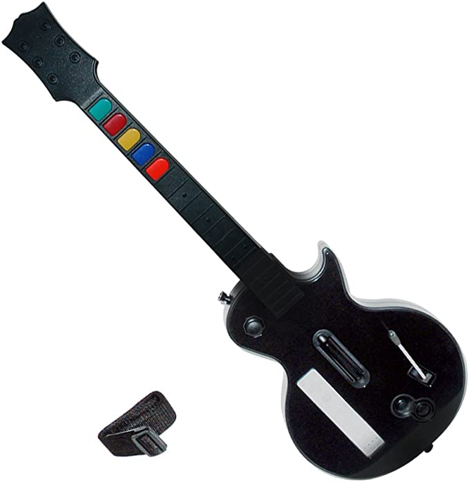 Wireless Guitar for Wii Guitar Hero and Rock Band Games Color ...