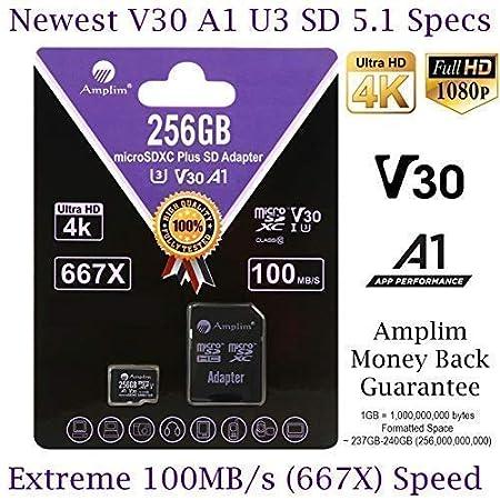 Amazon.com: Amplim 256GB Micro SD Card Plus SD Adapter. 256 ...