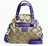 Coach Daisy Signature Foldable Crossbody Bag/ Satchel (Purple) #21713, Bags Central