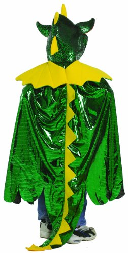 Great Pretenders Dragon Cape, Green (Size 5/6)