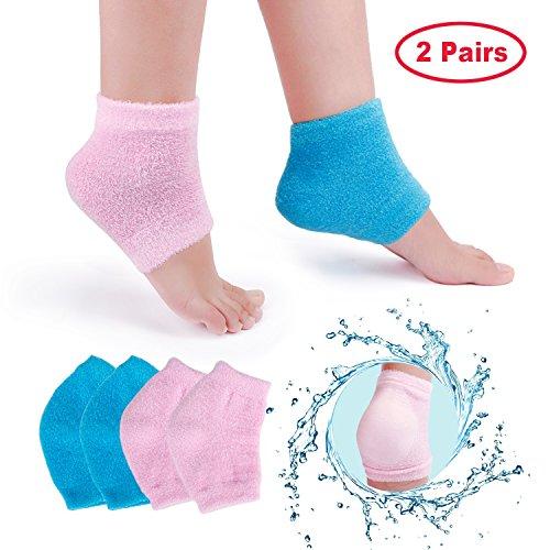 Moisturizing Gel Socks, 2 Pairs Vented Heels Moisturizing So