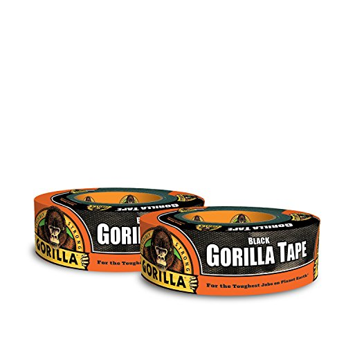 Gorilla Tape, Black Duct Tape, 1.88'' x 35 yd, Black, (Pack of 2) by Gorilla