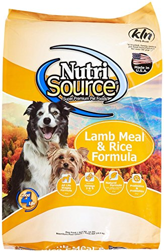 Adult Formula 33 Lb Bag (Tuffy's Pet Food 131120 Nutrisource Lamb/Rice Dry Food for Dogs,)