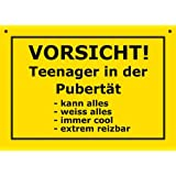 pst schild vorsicht teenager in der pubert t mit bild schild spa schild hsk. Black Bedroom Furniture Sets. Home Design Ideas