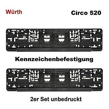 Amazon.es: Würth KSB - Juego de 2 soportes para matrícula de fijación de matrícula para matrícula Matrícula Amplificador Circo 520