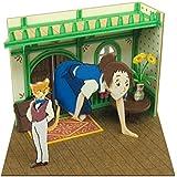 さんけい スタジオジブリmini 猫の恩返し 事務所に入るハル ノンスケール ペーパークラフト MP07-64
