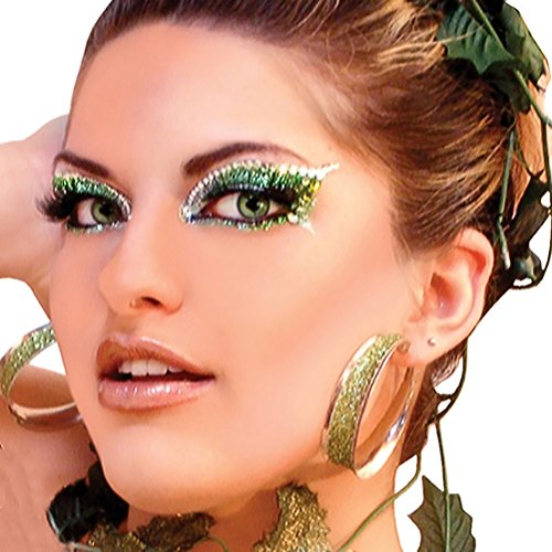 ENVY Xotic Eyes Green Glitter Professional Make Up Dancer Costume St Patricks Day ()