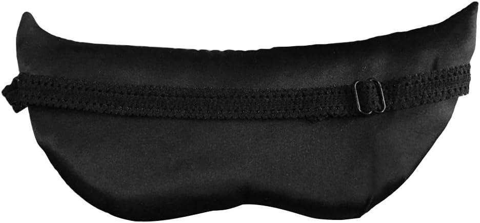 travail de d/écalage voyage masque de sommeil en soie naturelle masque de renard des animaux motif endormi couverture de sommeil pour dormir siestes Frcolor Masque de sommeil