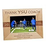 GiftsForYouNow Thank You Coach Personalized Picture Frame, Soccer