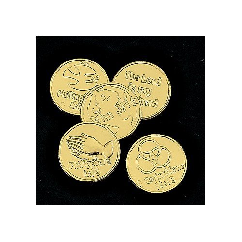 (Fun Express Plastic Bible Verse Gold Coins - 144 Piece)