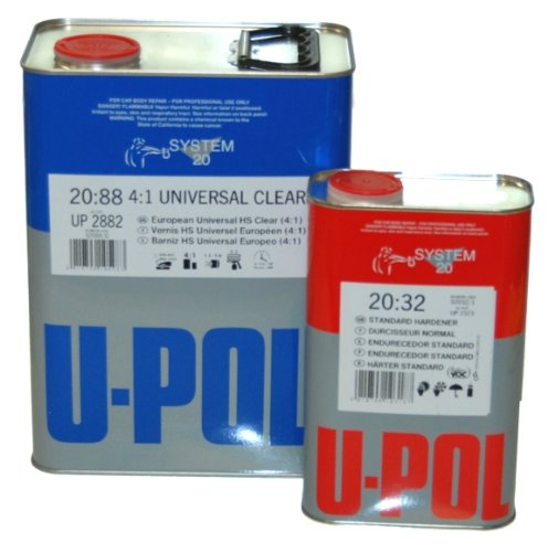 U-Pol 2882-KIT-STD U-POL Overall Clear URETHANE CLEARCOAT UNIVERSAL CLEAR 4:1 STANDARD KIT EUROPEAN STYLE CLEARCOAT w/NANOPARTICULATE TECHNOLOGY