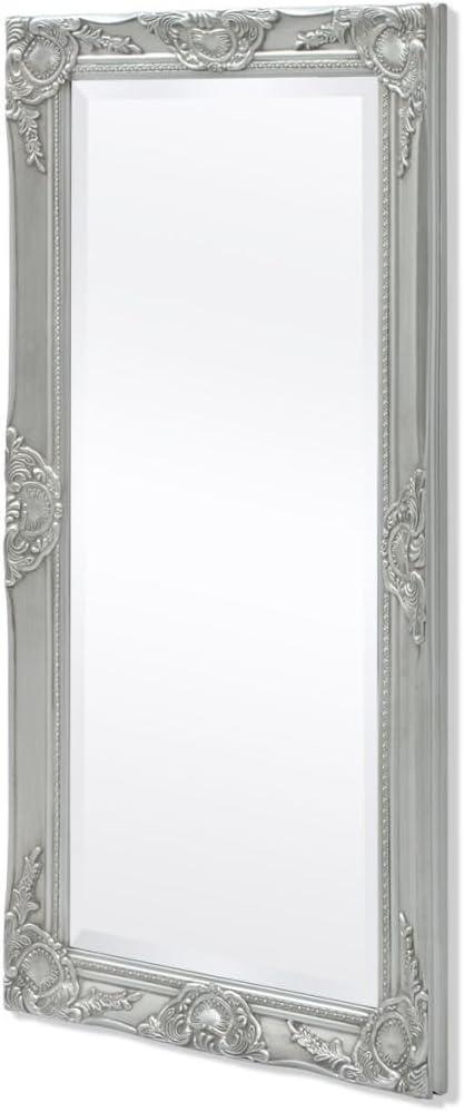 Festnight Specchio da Parete con Cornice Stile Barocco Specchio da Bagno Ovale in Legno e Vetro 50x60 cm//50x70 cm Argento//Bianco//Nero//Oro