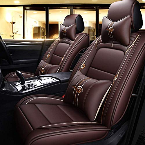 9-piece set, seat cover, complete set, non-slip universal leather for 5 front seats and rear seats: