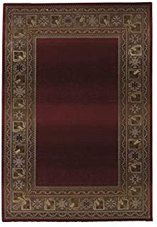 "Oriental Weavers G3436R300380ST Generations Area Rug, 10"" x 13"", Red/Green (B0049VZDSU) 