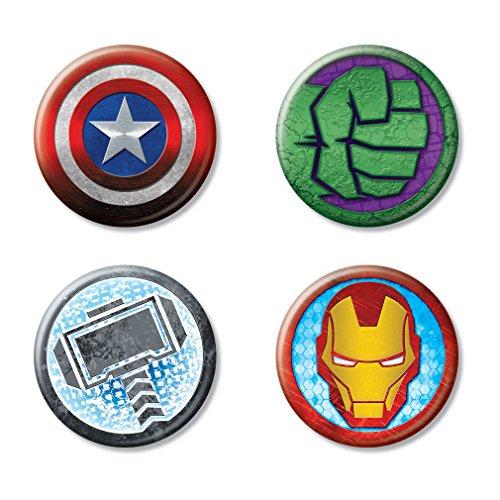 Ata-Boy Marvel Comics Avengers Icon Logos Assortment #1 Set of 4 1.25